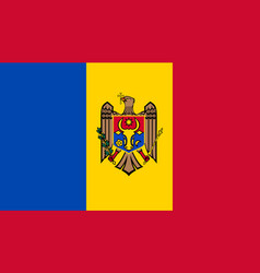 moldova flag icon in flat style national sign vector image