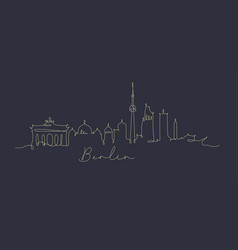 pen line silhouette berlin dark blue vector image