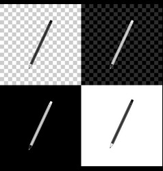 pencil with eraser icon isolated on black white vector image