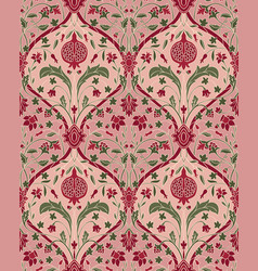Pink floral pattern for wallpaper vector