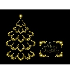 Postcard with brilliant Christmas tree EPS10 vector image