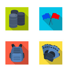 Protective vest gloves and other equipment vector