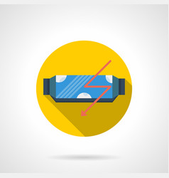 Protein supplement bar flat round icon vector