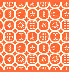 Retro scandinavian seamless pattern fruits vector