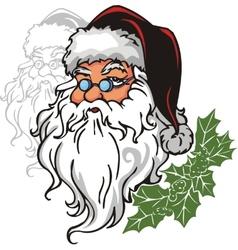 Santa Claus - vinyl-redy vector image