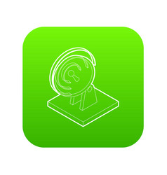 satellite dish icon green vector image