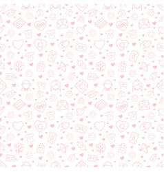 seamless pattern with love and romance icons vector image