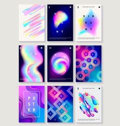 Set of 9 creative design posters vector
