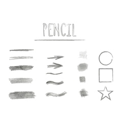 Set of grunge brushes Abstract hand drawn vector image