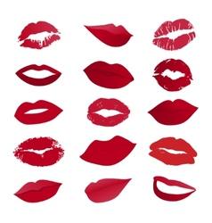 Set of lips vector