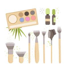 Set zero waste cosmetics - natural vector
