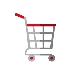 shopping cart online delivery market color shadow vector image
