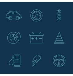simple set auto related icons for your vector image