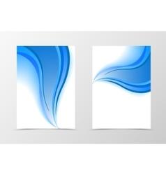 Smooth flyer template design vector