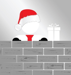 Snowman with brick wall art vector
