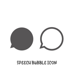 speech bubble icon simple flat style vector image