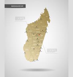 stylized madagascar map vector image