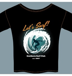 Surf Club t-shirt template design vector image