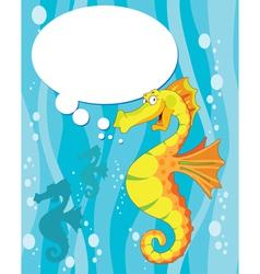 talking sea horse vector image