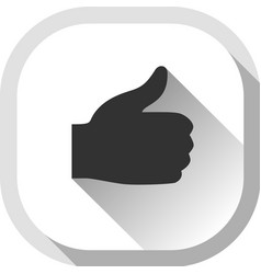 Thumb up gray button vector