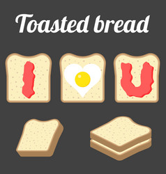 Toasted bread vector