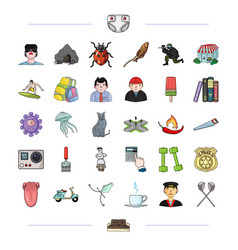 tourism medicine history and other web icon in vector image