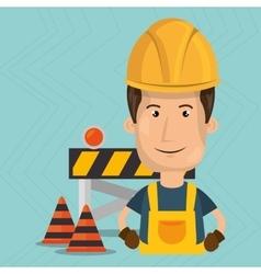 under construction worker website vector image