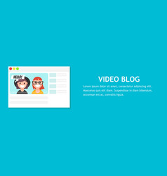 Video blog page vector