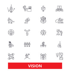 Vision sight mission plan eye visionary vector