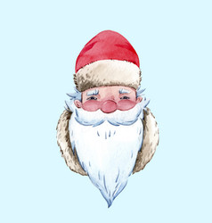 watercolor santa claus vector image