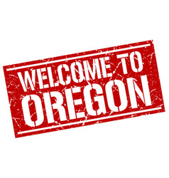 Welcome to oregon stamp vector