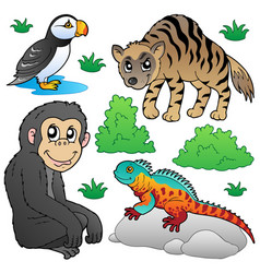 Zoo animals set 2 vector
