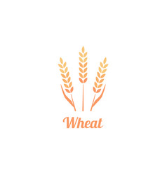 bakery logo badge with wheat vector image
