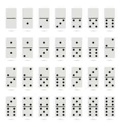 Collection of old fashioned domino set vector image vector image
