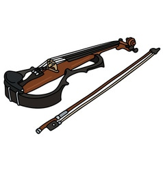 Electric violin and a bow vector image