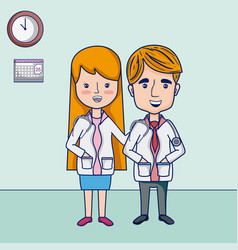 funny doctors cartoons vector image