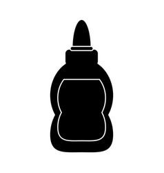 glue school supplies design pictogram vector image