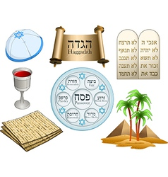 Passover Symbols Pack vector image