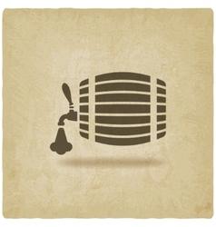 Beer barrel old background vector