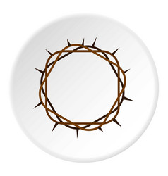 crown of thorns icon circle vector image