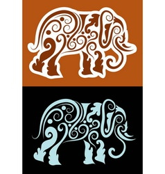 Elephant cutting sticker vector image vector image