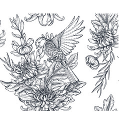 seamless pattern with hand drawn vector image vector image