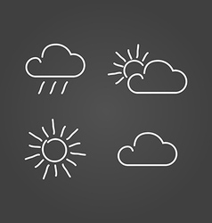 Weather set icons draw effect vector image vector image