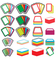 color game cards icon set eps10 vector image vector image