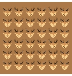 cute deer head pattern background image vector image vector image