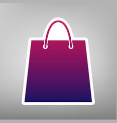 shopping bag purple gradient vector image vector image