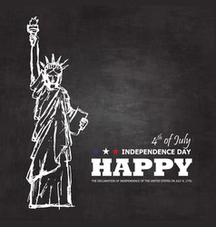 4th july happy independence day america vector image