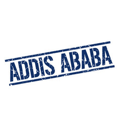 Addis ababa blue square stamp vector
