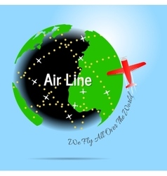 Air line vector image