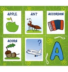 Alphabet marks - letter A vector
